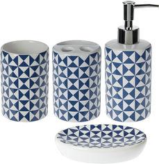 Набор аксессуаров для ванной Bathroom solutions Синий (554777020_blue) от Rozetka