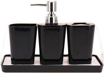 Набор аксессуаров BATHROOM SOLUTIONS Черный (314418640_black) от Rozetka