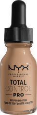 Акция на Жидкая тональная основа для лица NYX Professional Makeup Total Control Pro 10.5 Medium Buff 13 мл (800897206918) от Rozetka