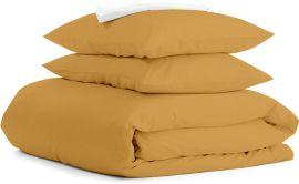 Акция на Комплект постельного белья Cosas Ranfors 160х220 х 2 шт Mustard White (4822052065655) от Rozetka