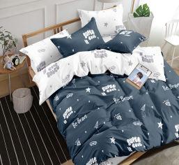 Акция на Комплект постельного белья MirSon Сатин 22-1247-1 Be Brave 160х220 (2200004107394) от Rozetka