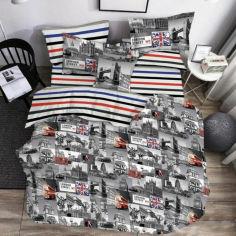 Акция на Комплект постельного белья MirSon Бязь 17-0538-1 London Street 220х240 (2200004090788) от Rozetka