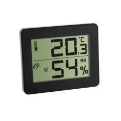 Акция на Термогигрометр цифровой TFA, 100x12x82 мм, чёрный 30502701 от Allo UA