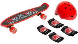 Акция на Пенни борд Caretero Toyz Dexter + Шлем и защита Red (TOYZ-0503) от Rozetka