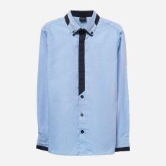 Акция на Рубашка O'STIN BS4X23-63 ШФ 122 см Серо-синяя (2990021416790) от Rozetka