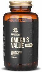 Акция на Grassberg Omega-3 Value 1000 mg Омега-3 120 капсул от Stylus