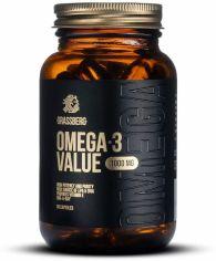 Акция на Grassberg Omega-3 Value 1000 mg Омега-3 60 капсул от Stylus