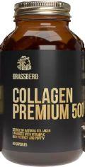 Акция на Grassberg Collagen Premium 500 mg/40 mg Коллаген премиум + витамин С 60 капсул от Stylus