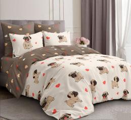 Акция на Комплект постельного белья MirSon Бязь 17-0566 Pug-dog (2200004269054) от Rozetka