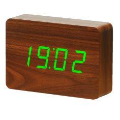"Акция на Смарт-будильник с термометром ""BRICK"" орех от Allo UA"