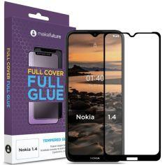 Акция на Защитное стекло MakeFuture Full Cover Full Glue Black для Nokia 1.4 от Allo UA
