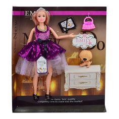 Акция на Кукла Emily Блондинка в  фиолетовом платье с пайетками (QJ081C) от Будинок іграшок