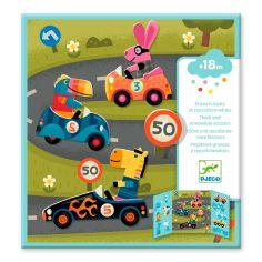 Акция на Набор для творчества с наклейками DJECO Автомобили (DJ09073) от Будинок іграшок