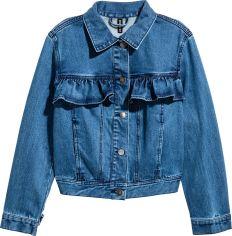 Акция на Джинсовая куртка H&M 4918305-ACXD 32 Синяя (3000000345580) от Rozetka