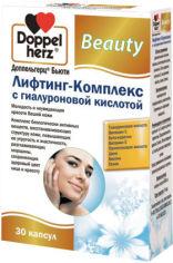Акция на Doppelherz Beauty Lifting complex with hyaluronic acid 30 caps (DOP-52742) от Y.UA