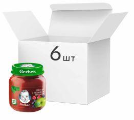 Акция на Упаковка фруктового пюре Gerber Яблоко с лесными ягодами с 6 месяцев 130 г х 6 шт (7613287166951) от Rozetka
