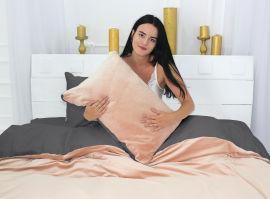 Акция на Комплект постельного белья MirSon Велюр Winter Delicate 28-0091 Ortica Евро (2200004044835) от Rozetka