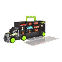 Акция на Набор машинок Dickie toys Трейлер-перевозчик автомобилей (3747007) от Будинок іграшок