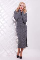 Акция на Платье 1 For You VPD0005 42-48 темно-серое повседневное удлиненное миди от Stylus