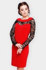 Акция на Платье FashionUp PL-1599B 48 красное повседневное до середины бедра от Stylus