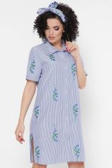 Акция на Платье FashionUp PL-1767D-46 46 синее повседневное до середины бедра от Stylus