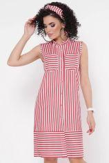 Акция на Платье FashionUp PL-1768B-44 44 красное повседневное до середины бедра от Stylus
