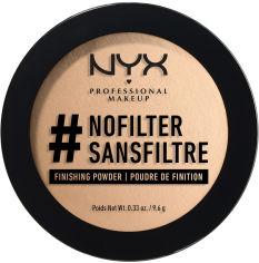 Акция на Фиксирующая пудра для лица NYX Professional Makeup Nofilter 07 Medium Olive 9.6 г (800897017385) от Rozetka