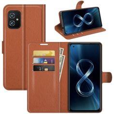 Акция на Чехол-книжка Litchie Wallet для Asus Zenfone 8 Brown от Allo UA