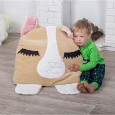 Акция на Детский спальный мешок-трансформер слипик 120х60 см (485104-Нов) Коричневый с оранжевым от Allo UA