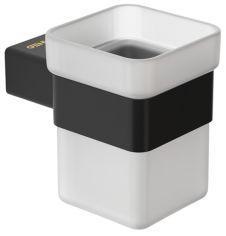 Акция на Стакан для ванной GENWEC Pompei GW05 56 04 03 черный матовый от Rozetka