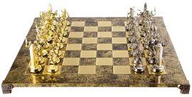Акция на Шахматы ручной работы Manopoulos Греческая мифология, деревянная доска латунь, металлические фигуры, 54 x 54 см, 10 кг (S19BRO) от Rozetka