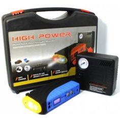 Акция на Автомобильное пускозарядное устройство многофункциональное LedPower Jumpstarter LPTM19F 68800mAh с встроенным фонариком и 4хUSB + Компрессор электрический  для шин от Allo UA