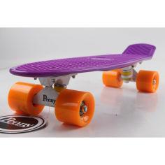 """Акция на Пенни борд Penny 22 """"Фиолетовый с оранжевыми колёсами"""" от Allo UA"""