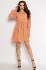 Акция на Однотонное платье с длинными рукавами 632F004-3 от Time Of Style