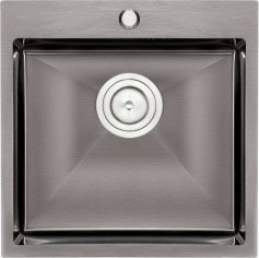 Акция на Кухонная мойка QTAP D5050BL 2.7/1.0 мм (QTD5050BLPVD10) от Rozetka