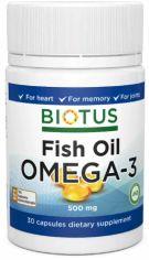 Акция на Biotus Omega-3 Fish Oil 500 mg Омега-3 Рыбий Жир исландский 30 Капсул от Stylus