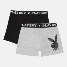 Акция на Трусы-шорты Playboy Annya-24 S 2 шт Черные/Серые (5050073554202) от Rozetka