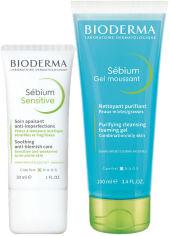 Акция на Набор Bioderma Флюид Sebiom Sensitive 30 мл + Очищающий гель Sebiom 100 мл (3041306016996) от Rozetka