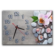 Акция на Настенные часы для спальни Aim Фаленопсис на камне, 30х45 см от Allo UA