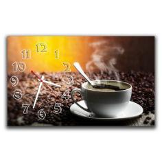 Акция на Кухонные настенные часы Aim Чашка кофе, 30х50 см от Allo UA