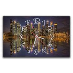 Акция на Фиолетовые настенные часы Aim Ночной город, 30х50 см от Allo UA