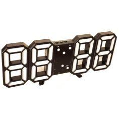 Акция на Часы настольные LY 1089 с белой подсветкой, черные 6803 от Allo UA