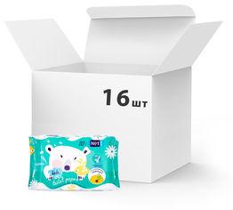 Акция на Упаковка туалетной влажной бумаги Bella No1 Kids 16 пачек по 52 шт (BE-043-WU52-001) от Rozetka
