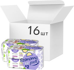 Упаковка детских влажных салфеток Bella Baby Happy Silk & Cotton Economy pack 16 пачек по 64 шт (BB-062-WB02-012) от Rozetka
