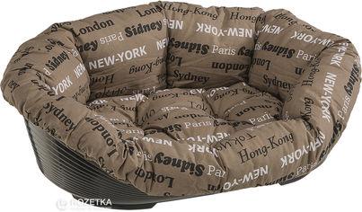 Акция на Пластиковый лежак для собак Ferplast Sofa'  6 73х55х27 см Коричневый (70226999) от Rozetka
