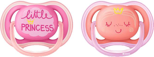 Пустышка Philips AVENT Ultra Air с декором 6-18 мес 2 шт для девочек (SCF343/22) от Rozetka