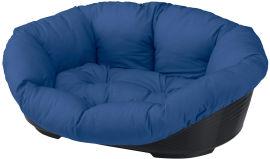 Акция на Пластиковый лежак для собак Ferplast Sofa' 6 73х55х27 см Синий (70226090) от Rozetka