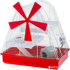 Акция на Клетка для хомяков Ferplast Magic Mill 46.5х46х29.5 см Красная (57001311) от Rozetka