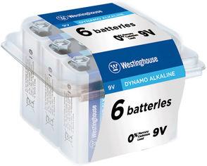 Акция на Щелочная батарейка Westinghouse Dynamo Alkaline 9V/6LR61 Крона 6 шт (889554000137) от Rozetka
