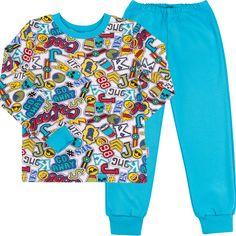 Пижама (футболка с длинными рукавами + штаны) Бемби ПЖ39 92 см Бело-голубая (13039011137.141) от Rozetka